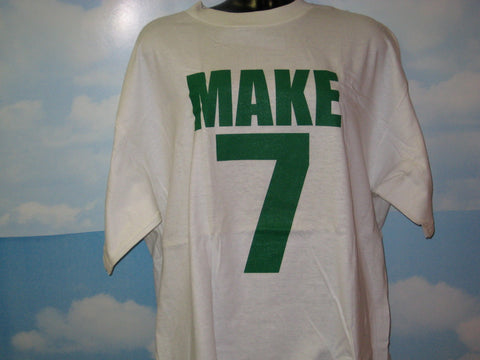 Make 7 Up Yours Adult White Tshirt