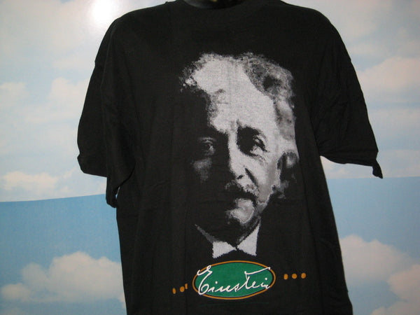 Einstein Face Adult Black Size XL Extra Large Tshirt - TshirtNow.net - 1