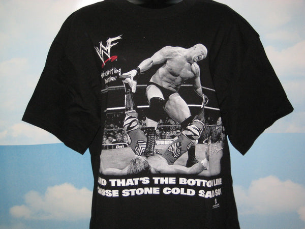 Stone Cold Steve Austin Adult Black Size Medium Tshirt - TshirtNow.net - 1