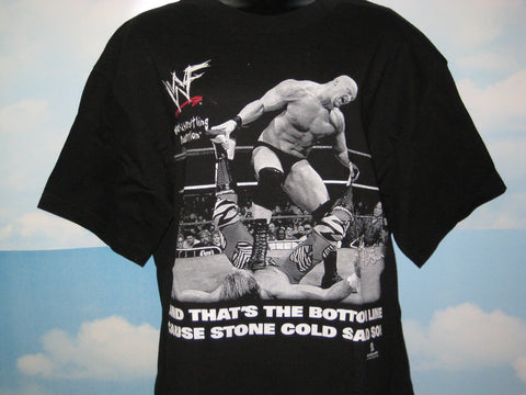 Stone Cold Steve Austin Adult Black Size Medium Tshirt
