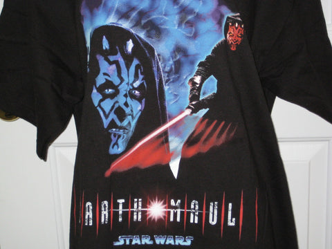 Star Wars Darth Maul Portrait of a Sith Adult Black Size L Large Tshirt