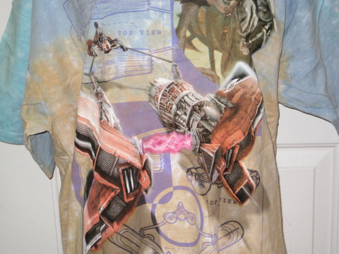 Star Wars Sebulba Podracer Adult Tie-Dye Size XL Extra Large Tshirt
