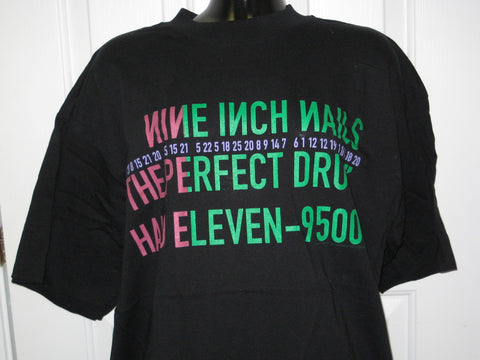 Nine Inch Nails The Perfect Drug Tour Adult Black Size XL Extra Large Tshirt