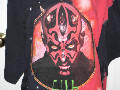 Star Wars Darth Maul Sith Adult Tie-Dye Size L Large Tshirt