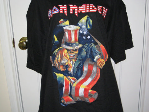 Iron Maiden Patriot Adult Black Size XL Extra Large Tshirt