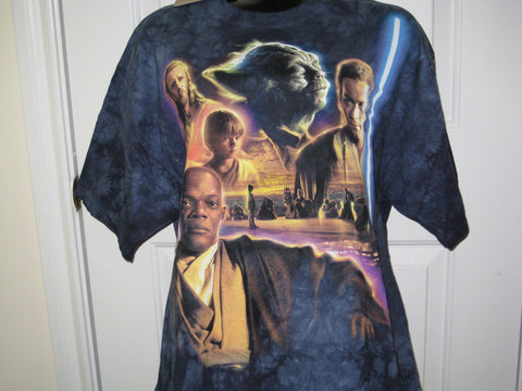Star Wars Jedi Council Adult Tie-Dye Size L Large Tshirt