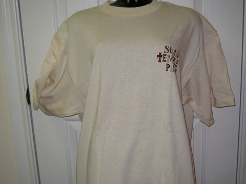 Stone Temple Pilots Classic Tour Adult Natural Size XL Extra Large Tshirt