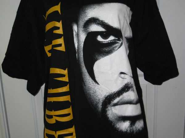 Ice Cube Face Adult Black Size XL Extra Large Tshirt - TshirtNow.net - 1