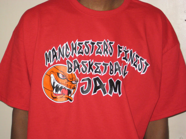 Manchester's Finest Basketball Jam on Red TShirt - TshirtNow.net - 1
