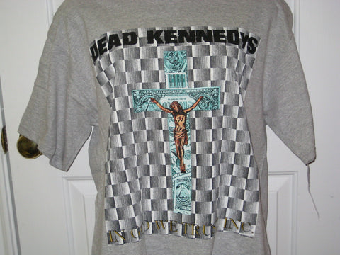 Dead Kennedys Freedom From Religion Tour Adult Grey Size L Large Tshirt
