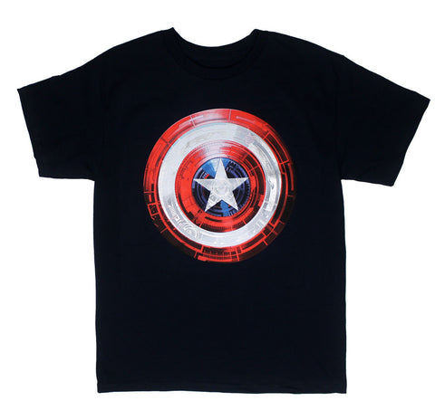 Captain America HIgh Resolution Shield Logo Tshirt