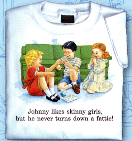 Childhood Johnny Likes Skinny Girls Tshirt