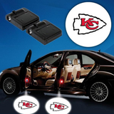 2 NFL KANSAS CITY CHIEFS WIRELESS LED CAR DOOR PROJECTORS