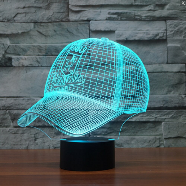 MLB KANSAS CITY ROYALS 3D LED LIGHT LAMP