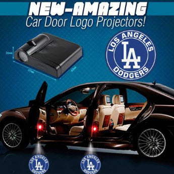 2 MLB Los Angeles Dodgers Wireless LED Car Door Projectors
