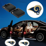 2 NFL LOS ANGELES RAMS WIRELESS LED CAR DOOR PROJECTORS