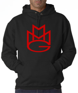 Maybach Music Hoodie:Black With Red Print