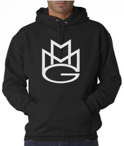 Maybach Music Hoodie:Black with White Print