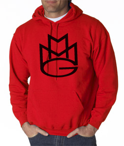 Maybach Music Hoodie:Red and Black Print