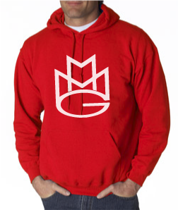 Maybach Music Hoodie:Red and White Print