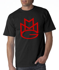 Maybach Music Group Tshirt:Black with Red Print
