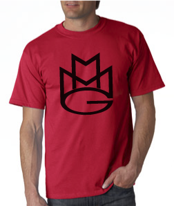 Maybach Music Group Tshirt:Red with Black Print