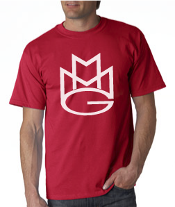 Maybach Music Group Tshirt:Red with White Print