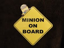 Despicable Me Minion On Board Automobile Window Decal - TshirtNow.net