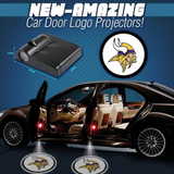 2 NFL MINNESOTA VIKINGS WIRELESS LED CAR DOOR PROJECTORS