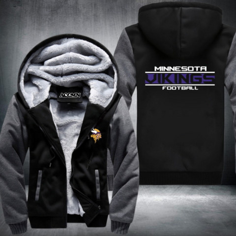 NFL MINNESOTA VIKINGS THICK FLEECE JACKET