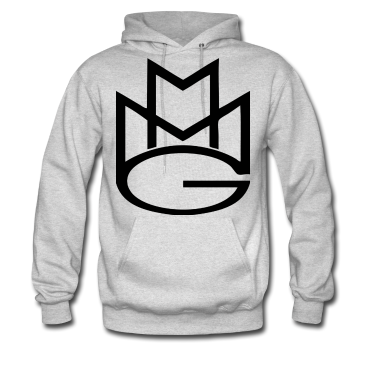 Maybach Music Hoodie: Grey with Black Print - TshirtNow.net