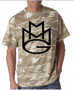 Maybach Music Group MMG Tshirt: Desert Camoflage with Black Print