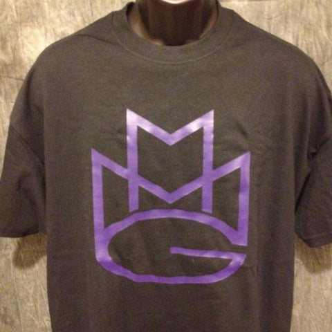 Maybach Music Group Tshirt: Black with Purple Print