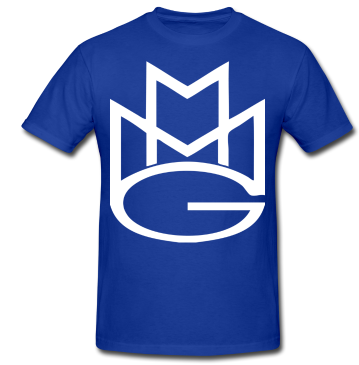 Maybach Music Group Tshirt: Blue with White Print