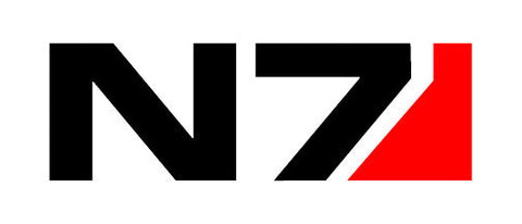 Mass Effect 2 N7 Decal black/red - Sale