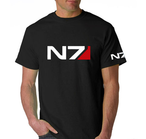 Mass Effect 2 N7 Logo Black Tshirt