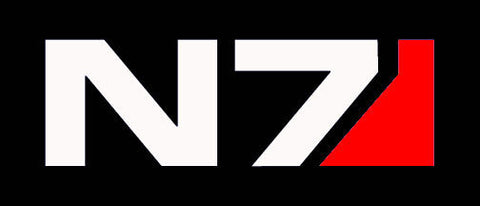 Mass Effect 2 N7 Decal white/red