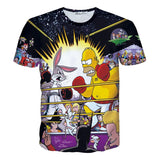 Homer Simpson versus Bugs Bunny Animated Characters Allover Print Tshirt - TshirtNow.net - 1