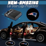2 NFL NEW ENGLAND PATRIOTS WIRELESS LED CAR DOOR PROJECTORS