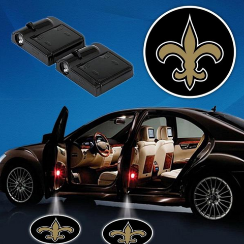 2 NFL NEW ORLEANS SAINTS WIRELESS LED CAR DOOR PROJECTORS
