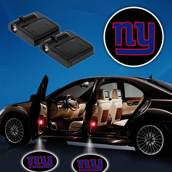 2 NFL NEW YORK GIANTS WIRELESS LED CAR DOOR PROJECTORS