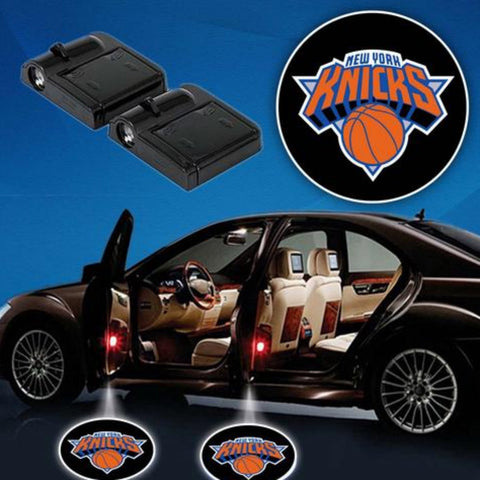 2 NBA NEW YORK KNICKS WIRELESS LED CAR DOOR PROJECTORS