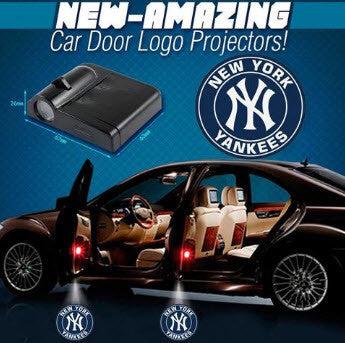 2 MLB New York Yankees Wireless LED Car Door Projectors