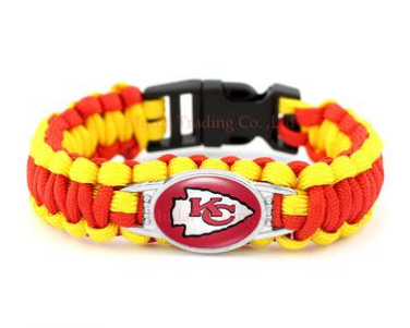 NFL Kansas City Chiefs Paracord Survival Bracelet