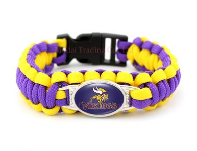 NFL Minnesota Vikings Paracord Survival Bracelet
