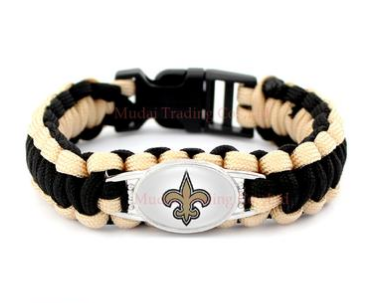 NFL New Orleans Saints Paracord Survival Bracelet