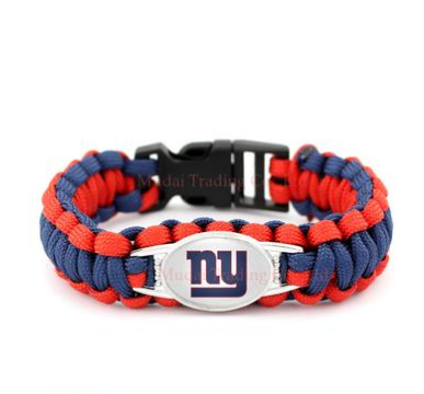 NFL New York Giants Paracord Survival Bracelet