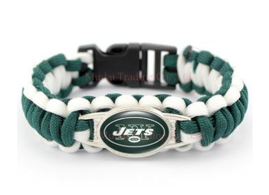NFL New York Jets Paracord Survival Bracelet