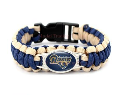 NFL Saint Louis Rams Paracord Survival Bracelet