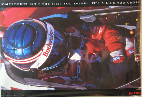 No Fear Budweiser Drag Racing Team Commitment Poster